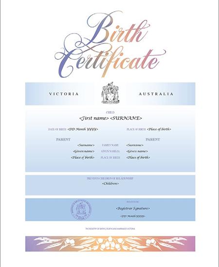 Australian Blue commemorative certificate
