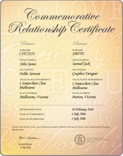 Calligraphy commemorative relationship certificate