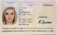 An Australian passport